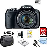 Photo : Canon Powershot SX530 HS 16MP Wi-Fi Super-Zoom Digital Camera 50x Optical Zoom Ultimate Bundle Includes Deluxe Camera Bag, 32GB Memory Cards, Extra Battery, Tripod, Card Reader, HDMI Cable & More