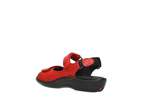 1300 Sandals Nubuck Salvia Wolky 70500 Red 6qdRqw5
