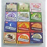 12 Assorted Boxes of HEM Incense Cones, Set #2 12 X 10 (120 total)
