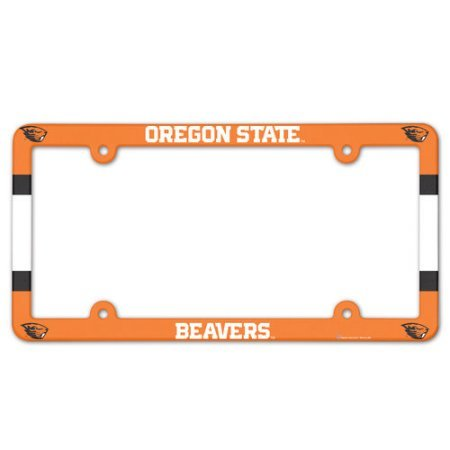 NCAA License Plate with Full Color Frame, Oregon State University