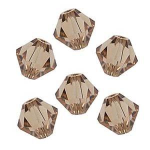 Topaz Swarovski Crystal Beads - Swarovski Crystal Bicone 5301 4mm Lt. Colorado Topaz Beads (50)