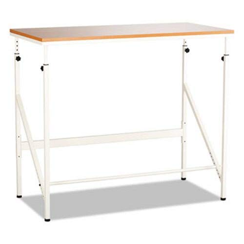 Safco Standing Height Desk, 48W X 24D X 50H, Beech/Cream by Safco (Image #1)