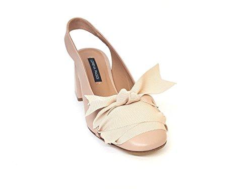 Para de de POGGI Algodón Mujer LORENA Beige Vestir Zapatos OpExP