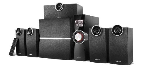 EDIFIER C6XD 5.1 Lautsprechersystem (80 Watt) mit Infrarot-Fernbedienung, USB- und optischem Eingang