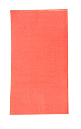 Paper Dinner Napkins - 120-Pack Disposable Napkins, 2-Ply Absorbent Napkins for Everyday Kitchen, Dining, Events, Parties, Coral Pink, Unfolded 15.5 x 13 Inches, Folded 7.5 x 4.25 Inches by Blue Panda