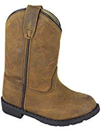 Smoky Children's Kid's Toddlers Brown Distress Leather Western Cowboy Boot (Best Shoes For Pigeon Toed Toddler)