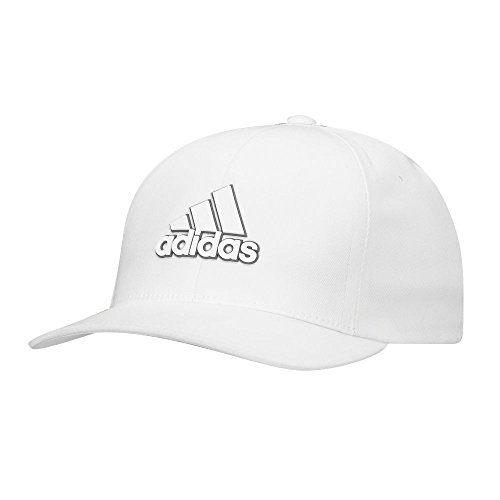 Adidas Golf 2017 Light Climacool Flex-Fit Hat Structured Mens Performance Golf Cap White Large/XL