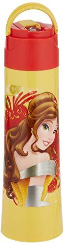 Disney Princess Plastic Sipper Bottle, 400 ml, Multicolour