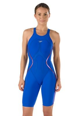 Speedo 7190600 Womens Lzr Racer X Kneeskin Swimsuits, Blue/Red - - Swimsuit Racer