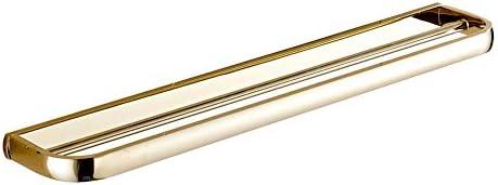 バスルームタオルバー バスルームシャワーダブルタオルバーラック壁掛けレールタオルロッドホテルバスタオルハンガーホルダー家の装飾組織 タオル ハンガー 掛け (色 : ゴールド, サイズ : ワンサイズ)