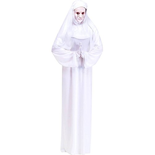 Scary Mary White Nun Adult Costume