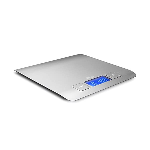 Zenith Digital Kitchen Scale by Ozeri, in Refined Stainless Steel with Fingerprint Resistant Coating 31ZBw4NKrfL