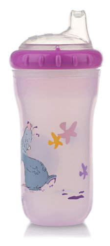 Nuby 270ml 1 Pack Tinted Printed Cup (Colours and Designs May Vary)