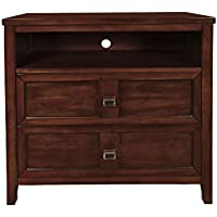 New Classic 00-131-078 Ridgecrest Bedroom Media Chest, Chestnut