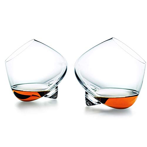 RTUIYIO Whiskey Glass Rotate Top Belly Cigar Whiskey Cocktail Drinking Wine Cup Tumbler Bottom Bar Glasses Vaso Gafas Caneca Brandy