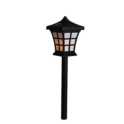 Gerson 13.5' Black and White Moroccan LED Battery Operated Indoor/Outdoor...