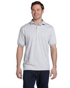 Hanes Men's ComfortBlend EcoSmart Jersey Polo, Ash Small (Polo Ash Grey T-shirt)
