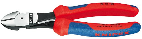 KNIPEX 74 12 180 Comfort Grip High Leverage Diagonal Cutter