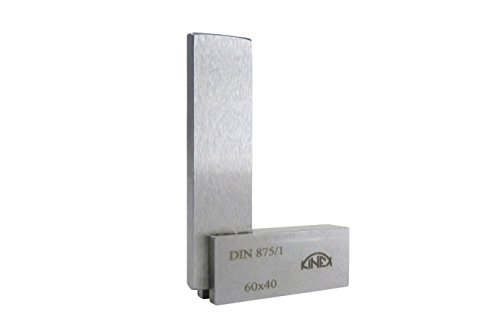"""Kinex 4026-12-006 Solid Machinist Square 2-3/8"""" x 1-5/8"""" (60 x 40 mm ) DIN 875/1 (Square w/in 14 microns or 0.0005"""")"""