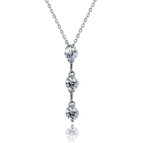 - Collier Femme-Argent 925/1000-Trois Diamants
