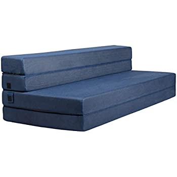 milliard tri fold foam folding mattress and sofa bed for guests queen 78x58x4. Black Bedroom Furniture Sets. Home Design Ideas