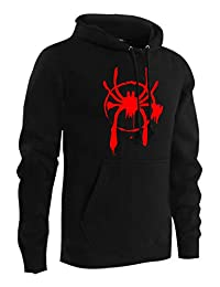 Newhui Unisex Miles Morales Thicken Hoodie Spider-Verse Hooded Pullover Sweatshirt Blazer
