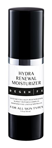 RegenFX Skincare Anti Aging Moisturizer Cream with Vitamin C, Vitamin E, Green Tea Extracts and Hyaluronic Acid. Potent Anti-Aging, Anti-Wrinkle Treatment, Skin Tightening, and Collagen Stimulation. Net Wt 1.0 oz/ 30 ml