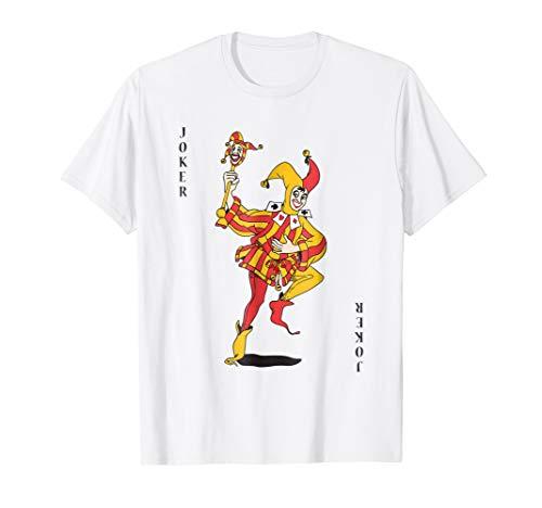 Joker Halloween Costume Shirt Playing Card Outfit Men Women