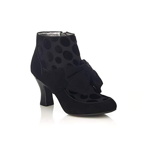 Shoo Boots Women's Seren Bow Mid Heel Ruby Black Oq6AdvO