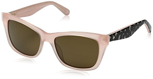 Kate Spade Women's Jenae/Ps Square Sunglasses, Pink Black/Brown Polarized, 53 - Kate Spade Pink Sunglasses