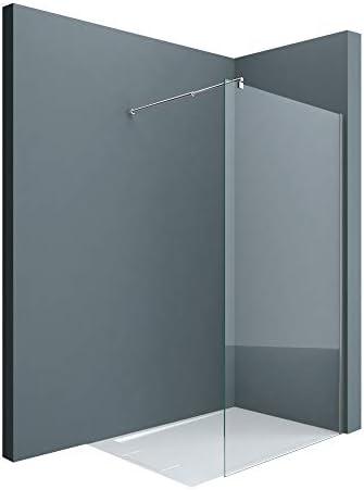 doporro Lujosa Mampara/panel de ducha de vidrio transparente, diseño Bremen1K 130x200   Estabilizador de vidrio real de 8 mm   Vidrio de seguridad templado   Nano - revestimiento incluido: Amazon.es: Bricolaje y herramientas