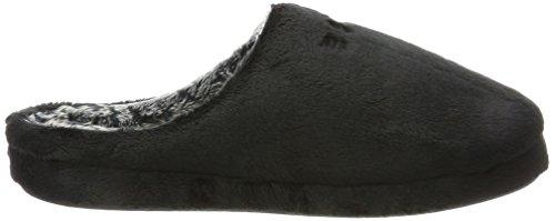 ESPRIT Damen Stitchy Mule Pantoffeln Schwarz (Black)
