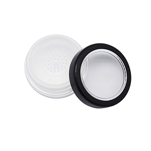 8x 10g 10ml Clear Plastic Cosmetic Sifter Jars Makeup Foundation Face Powder Blusher Cream Glitter Container Bottles Pots With Black Rimmed ()