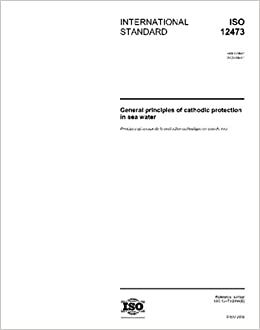 ISO 12473:2006, General principles of cathodic protection in sea water