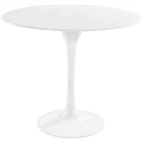 "Modway Lippa 36"" Fiberglass Dining Table in White"