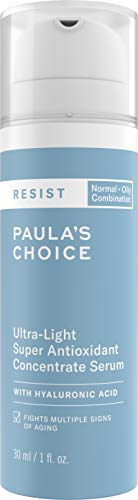 Paula's Choice RESIST Ultra-Light Antioxidant Serum | Coenzyme Q10, Niacinamide & Hyaluronic Acid | Anti-Aging Treatment | Oily Skin | 1 - Booster Antioxidant