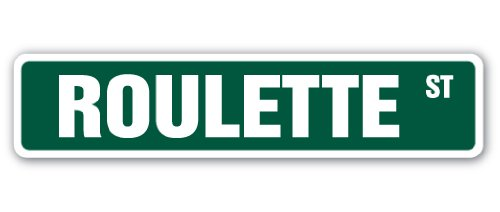 SignMission Roulette Street Sign Decal Gambling Casino Vegas Game Wheel | Indoor/Outdoor | 18