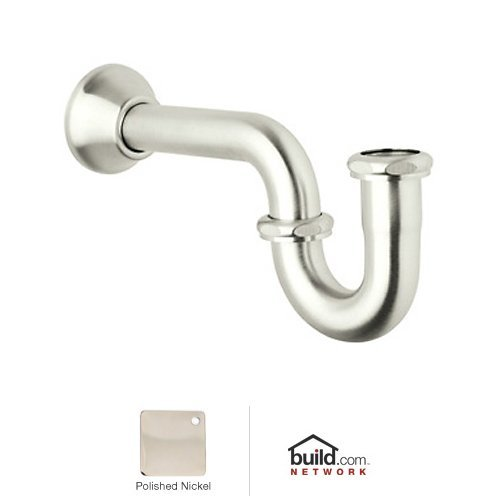 Decorative Bell Flange (Rohl RPT114PN Decorative P-Trap with Bell Flange, Polished Nickel)