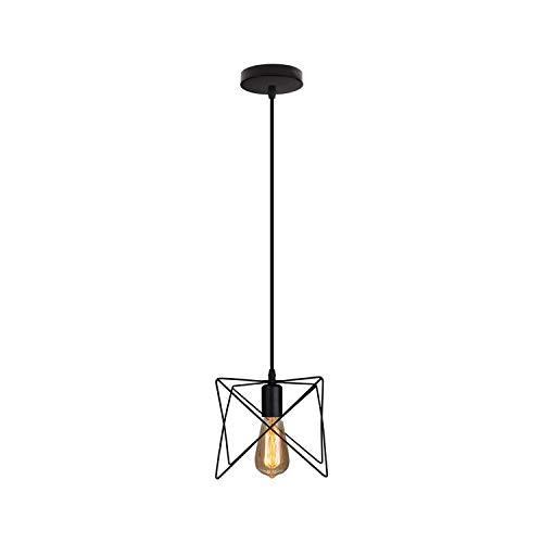 H.Q Pays idyllique Pendentif lumière en Fer forgé Restaurant Restaurant Lustre rétro Style Magasin de vêteHommests de Style éclairage de Plafond-Noir