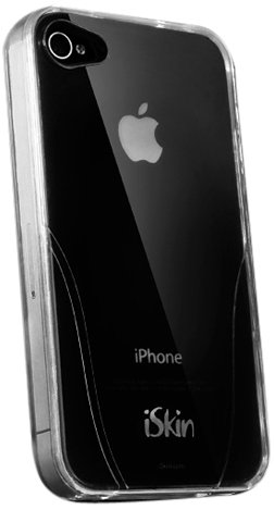 iSkin UNCLARO4-CR Solo TPU Jelly Case for iPhone 4 (AT&T & Verizon) - 1 Pack - Retail Packaging - Clear ()