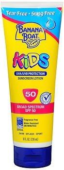 (Banana Boat Kids Sunscreen Lotion SPF 50-8 oz, Pack of 2)