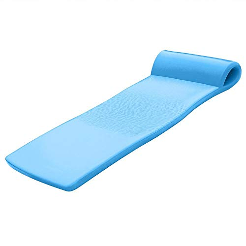 Texas Recreation Sunsation Swimming Foam Pool Floating Mattress, Marina Blue, 1.75