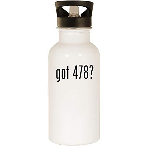 (got 478? - Stainless Steel 20oz Road Ready Water Bottle, White)
