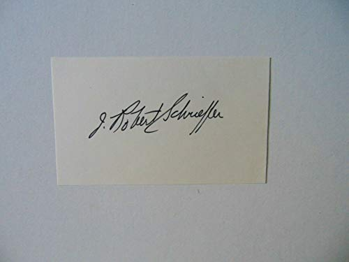 """""""Nobel Prize in Physics"""" John Robert Schrieffer Signed 3X5 Card Todd Mueller COA from Unknown"""