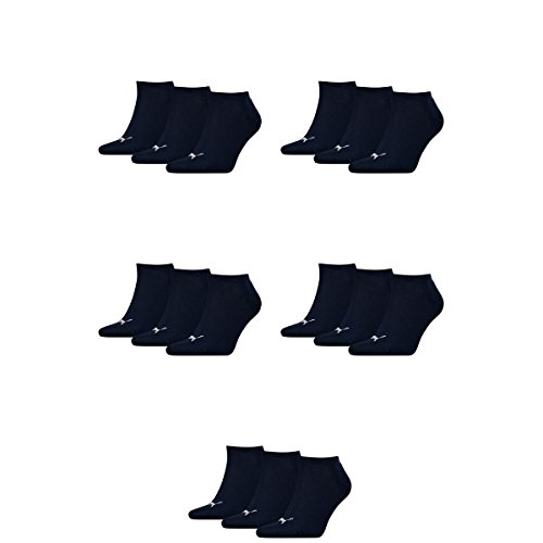 15 pair Puma Sneaker Invisible Socks Unisex Mens & Ladies 321 - navy