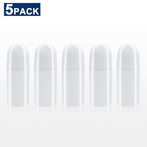 Timoo 5 PCS 50ml Deodorant Bottles, Empty Refillable Roll On Bottles,  Deodorant Container