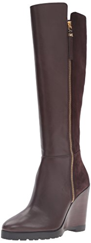 Toe Closed kid Coffee Knee Smooth Suede Boots MICHAEL Fashion Calf Clara Kors High Michael Womens Leather xAXxHYTqw