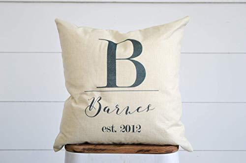 Farmhouse Burlap Pillow Cover | Last Name Decor | Decorative Pillow | Printed Pillow Cover | Throw Pillow Cover | Rustic Cover
