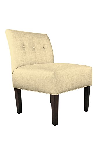 MJL Furniture Designs Samantha Collection Fabric Upholstered Button Tufted Living Room Accent Guest Chair, Dawson Series, Pismo (Accent Dawson)