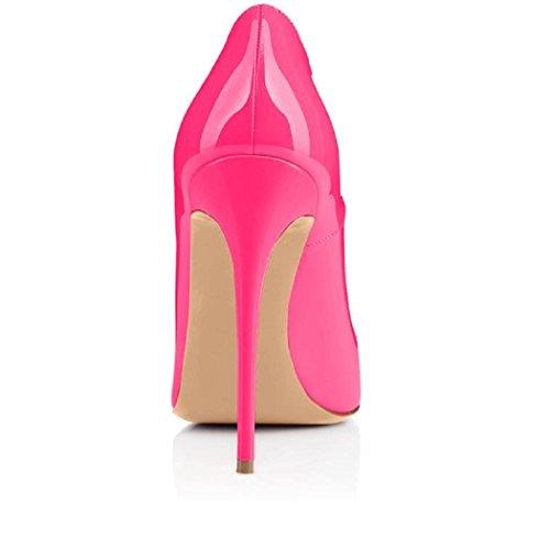 Ycg Hielt Pompen Rood Bloed Printing Slip Op Schoenen Pink1